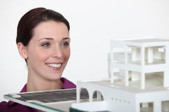 A female architect Royalty Free Stock Photography