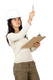 Female architect in action Royalty Free Stock Photos