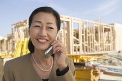 Female Architect On Call Stock Photos