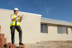 Female Architect construction site Royalty Free Stock Image