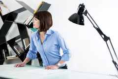 Female Architect or Enginneer Royalty Free Stock Images