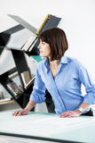 Female Architect or Enginneer Royalty Free Stock Photography