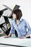 Female Architect or Enginneer Stock Photography