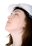 Female architect expectations Royalty Free Stock Photos