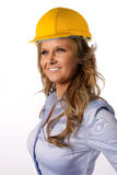Female architect with helmet Stock Image