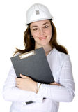 Female architect holding a folder Stock Image