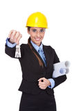 Female architect with keys Stock Photography