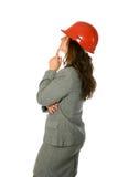 Female architect looking up Royalty Free Stock Image