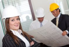 Female architect at the office Royalty Free Stock Photography