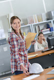 Female architect in office Royalty Free Stock Image