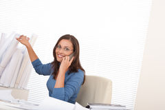Female architect on the phone Stock Photography