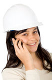 Female architect on the phone Stock Photography