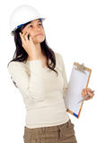 Female architect on the phone Royalty Free Stock Photography