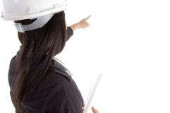 Female architect pointing Stock Image