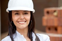 Female architect portrait Royalty Free Stock Photography