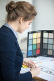 Female architect sketching Royalty Free Stock Photo