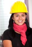 Female architect smiling Royalty Free Stock Photo