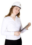 Female architect smiling Royalty Free Stock Photography