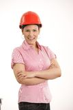 Female architect standing with arms crossed Stock Photos