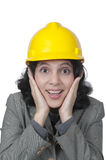 Female Architect Surprise Royalty Free Stock Photography