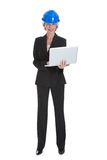 Female Architect Using Laptop Stock Image