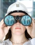 Female architect vision Stock Image