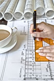 Female Architect at work Stock Photography