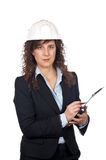 Female architect writing Stock Images