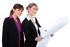 Female architects Stock Photos