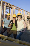 Female Architects At Construction Site Stock Images