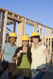 Female Architects At Construction Site Royalty Free Stock Images