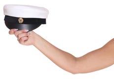 Female arm holding a Swedish traditional graduation cap Stock Photography