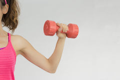 Female arm lifting dumbbell Stock Image