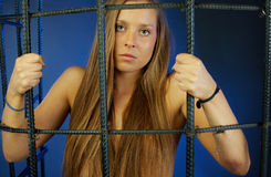 Female arrest Royalty Free Stock Image