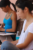 Female Art Students Sketching Stock Images