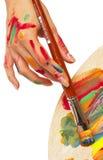 Female artist Stock Image