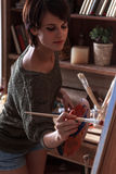 Female artist painter Stock Photography
