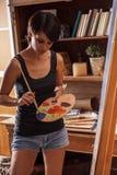 Female artist painter Royalty Free Stock Image