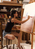 Female artist painter Stock Photography