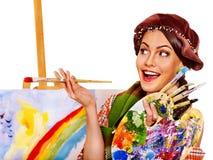 Female artist at work. Stock Photos