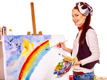 Female artist at work Stock Photo