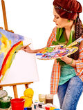 Female artist at work Stock Photography