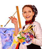 Female artist at work Stock Photos
