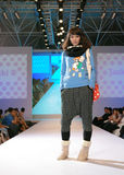 Female asia model at a fashion show Stock Photography