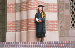 A female Asian-American UCLA graduate Royalty Free Stock Photography