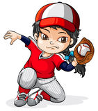 A female Asian baseball player Royalty Free Stock Photo