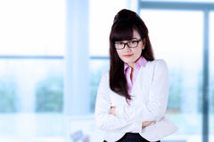Female asian doctor in pose Royalty Free Stock Photo