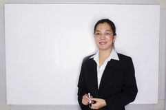 Female asian executive business. In office Royalty Free Stock Photography