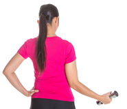 Female Asian Exercise With Dumbbell VIII Stock Photo