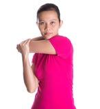 Female Asian Exercising IV Stock Image
